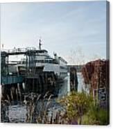 Bremerton Wa Ferry Doc Canvas Print