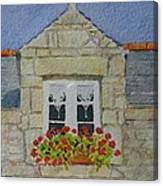 Bretagne Window Canvas Print