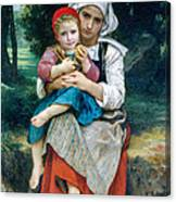 Breton Brother And Sister Canvas Print