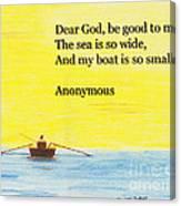 Breton Fisherman's Prayer Canvas Print