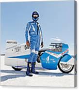 Brett De Stoop And His Suzuki Gt 750 Canvas Print