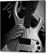 Brian Melvin Autographed Guitar Canvas Print