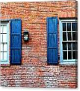 Brick And Shutters Canvas Print