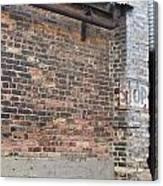 Brick Building Stop Canvas Print