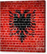 Brick Wall Albania Canvas Print