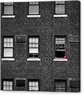 Brick Wall And Windows Canvas Print