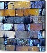 Brick Wall Of A Pottery Kiln Canvas Print