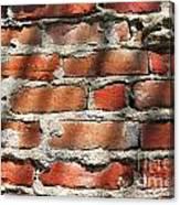 Brick Wall Shadows Canvas Print