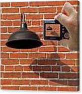 Brick Wall Snap Shot Canvas Print