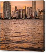 Brickell Sunset Canvas Print