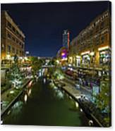 Bricktown Canal Vertical Canvas Print
