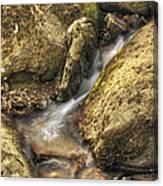 Bridal Veil Stream And Mossy Rocks - Heber Springs Arkansas Canvas Print
