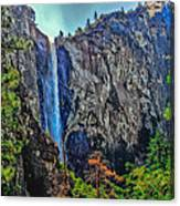 Bridalveil Falls In Yosemite Valley Canvas Print