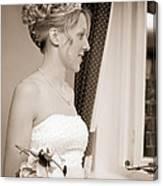 Bride Awaits Her Groom Canvas Print