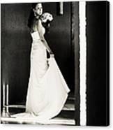 Bride I. Black And White Canvas Print