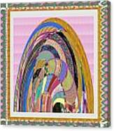 Bride In Layers Of Veils Accidental Discovery From Graphic Abstracts Made From Crystal Healing Stone Canvas Print
