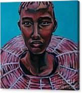 Bride - Portrait African Canvas Print