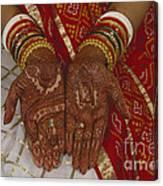 Brides Hands India Canvas Print