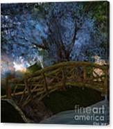 Bridge And Blue Tree Canvas Print