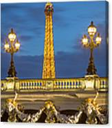 Bridge And Eiffel Canvas Print