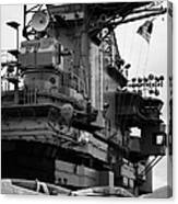 Bridge And Flight Deck Island On The Uss Intrepid New York Canvas Print