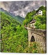 Bridge And Mountain Canvas Print