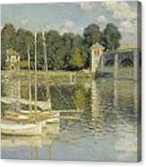 Bridge At Argenteuil Canvas Print