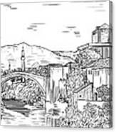 Bridge At Morstar Canvas Print