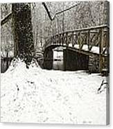 Bridge At Old Mine Park Canvas Print
