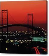 Bridge At Sunset Canvas Print