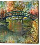 Bridge At The Botanical Gardens Canvas Print