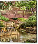 Bridge At Shelton Vineyards Canvas Print