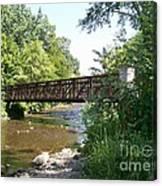 Bridge At Waubonsie Creek Canvas Print