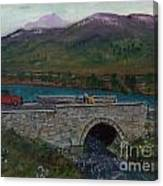 Bridge By Reservoir Canvas Print