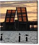 Bridge Closed To Traffic  Canvas Print