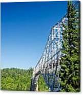 Bridge Connecting Oregon And Washington Canvas Print