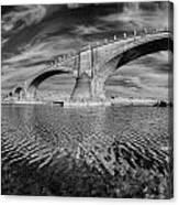 Bridge Curvature In Black And White Canvas Print