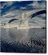 Bridge Curvature In Color Canvas Print