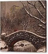 Bridge In Central Park Canvas Print