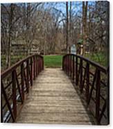 Bridge In Deep River County Park Northwest Indiana Canvas Print