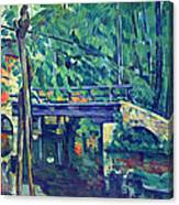 Bridge In The Forest By Cezanne Canvas Print