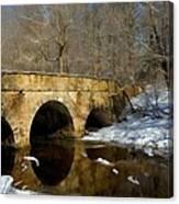 Bridge In Woods Canvas Print