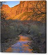 Bridge Mt And The Virgin River Zion Np Canvas Print