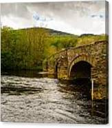 Bridge Near Cymer Abbey Canvas Print