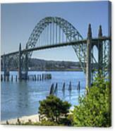 Bridge Newport Or 1 B Canvas Print