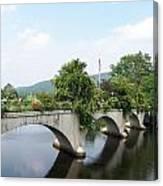 Bridge Of Flowers In Shelburne Canvas Print