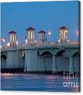 Bridge Of Lions At Dusk St Augustine Florida Canvas Print