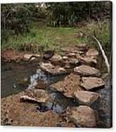 Bridge Of Rocks Across The River Canvas Print