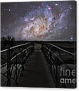 Bridge On A Distant Planet Canvas Print