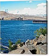 Bridge Over Columbia River At Umatilla-or  Canvas Print